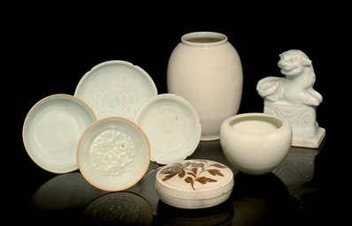 A GROUP OF YINGQING CERAMICS,