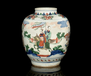 A WUCAI JAR, TRANSITIONAL, MID