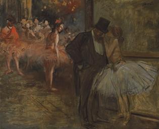 Danseuse et Abonné, à l'opéra