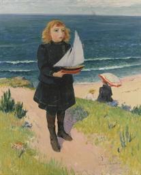 Jeune fille au bord de la mer,