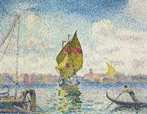 Barques à voiles sur la Giudecca or Venise, Marine