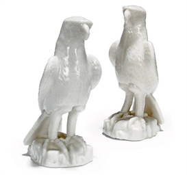 A PAIR OF BLANC DE CHINE MODEL