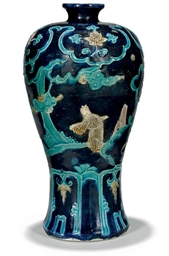 A CHINESE FAHUA MEIPING VASE