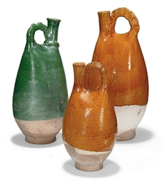 THREE CHINESE GLAZED POTTERY J