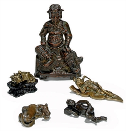 A GROUP OF FOUR CHINESE BRONZE