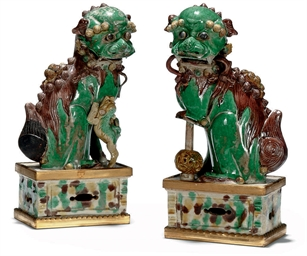 A PAIR OF ORMOLU MOUNTED BUDDH