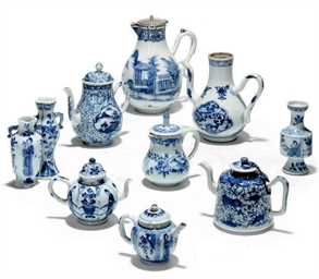 A GROUP OF TEN CHINESE BLUE AN