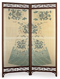 A SCREEN WITH CHINESE ROBE LEA