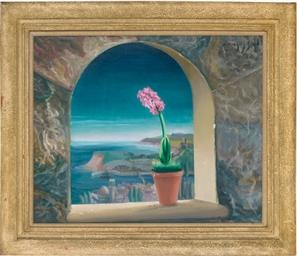 Hyacinth on a windowsill, a co