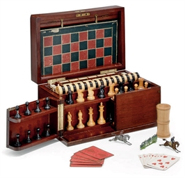 A LATE VICTORIAN MAHOGANY GAME