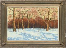 Winter landscape, late afternoon
