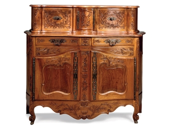 A FRENCH CARVED WALNUT BUFFET