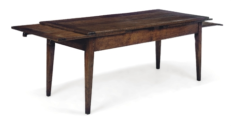 AN OAK DRAWLEAF FARMHOUSE TABL