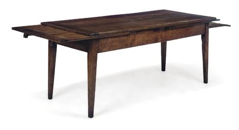 AN OAK DRAWLEAF FARMHOUSE TABL