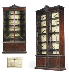A PAIR OF GEORGE II MAHOGANY B