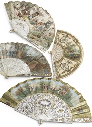 A COLLECTION OF FOUR FANS