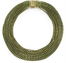 A GOLD AND ENAMEL NECKLACE, RETAILED BY NARDI