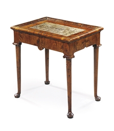 A GEORGE I YEW-WOOD TABLE
