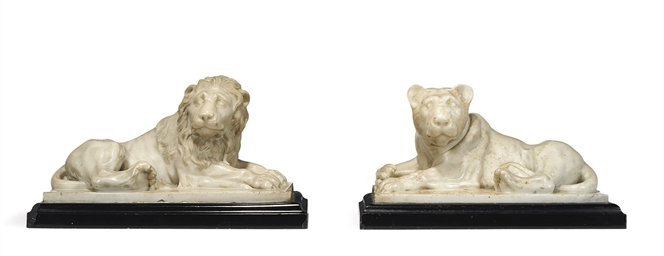 A PAIR OF ITALIAN MARBLE MODEL
