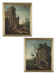A capriccio landscape with a r