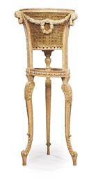 A LOUIS XVI STYLE GILTWOOD JAR