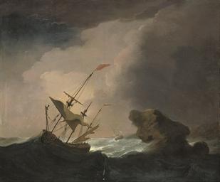 A warship drifting onto a rock