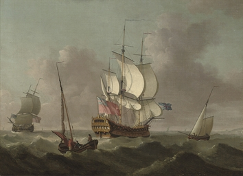 Ships of the fleet passing in