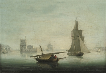 An armed cutter and other ship