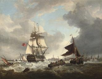 A '74' shortening sail as she