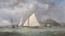 Foxhound and Vindex battling it out off Dartmouth, 1870