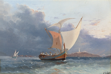 Fishing craft off the coast of