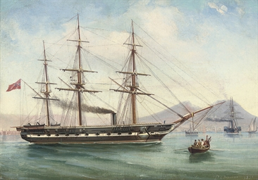 A steam frigate of the Royal N