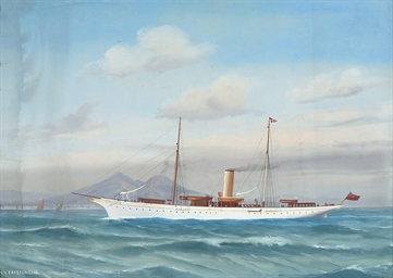 The British steam yacht Caperc