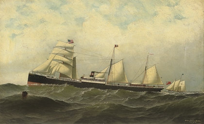 The British auxiliary steamer
