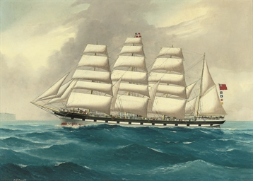 The four-masted barque West Lo