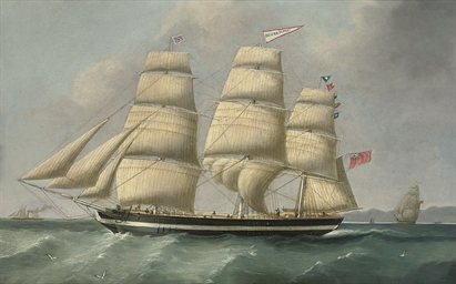The three-masted merchantman E
