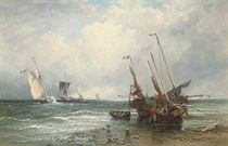 French fishing boats, luggers and fishing smacks: Ebb tide
