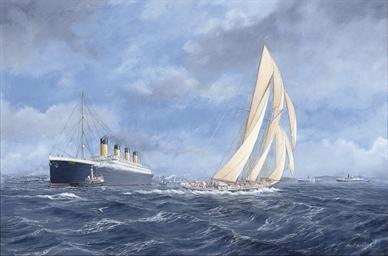 R.M.S. Titanic off Southampton