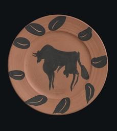 Taureau, marli aux feuilles