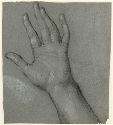 Study for the left hand of The