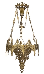 A FRENCH GOTHIC REVIVAL GILT-M