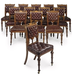 A SET OF TWELVE VICTORIAN AND