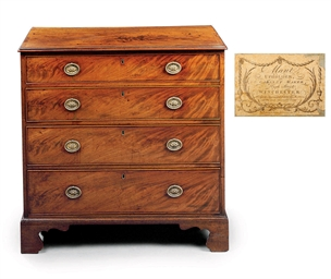 A REGENCY MAHOGANY CHEST