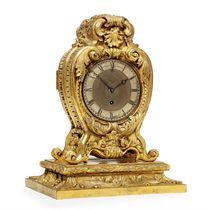 A VICTORIAN ORMOLU EIGHT DAY TIMEPIECE MANTEL CLOCK