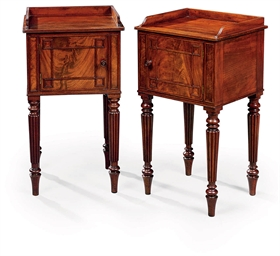 A NEAR PAIR OF REGENCY MAHOGAN