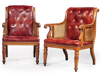 A NEAR PAIR OF WILLIAM IV OAK