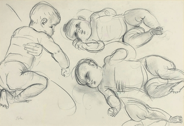 Caspar John as a baby