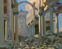 The Ruins of Arras Cathedral (after Sargent)