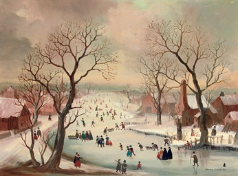 A Winter's Day, after Avercamp