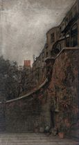 Montague-house: the backgardens of Montague, London